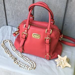Michael Kors Coral Pink Leather Satchel